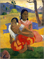 Gallery Print  Nafea faa ipoipo (Wann heiratest Du?) - Paul Gauguin
