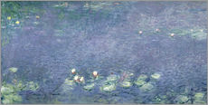 Wandsticker  Seerosen: Morgen - Claude Monet