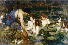 Wandsticker  Nymphen - John William Waterhouse