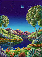 Wandsticker  Blue Moon Rising - Andy Russell