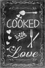 Wandsticker Cooked with Love