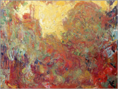 Wandsticker  Haus in Giverny, Komposition in rot - Claude Monet