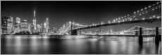 Wandsticker  New York Skyline und Brooklyn Bridge (monochrom) - Sascha Kilmer