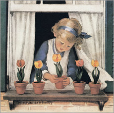 Gallery Print  Setzen von Tulpen - Jessie Willcox Smith