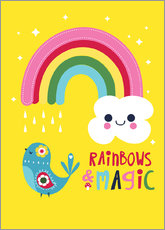 Wandaufkleber  Rainbows and magic - Kat Kalindi Cameron