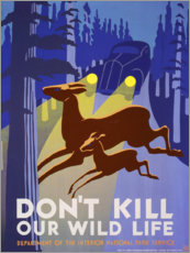 Premium-Poster Don't kill our wild life