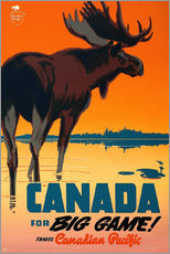Wandsticker  Canada for big game travel