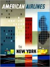 Wandsticker  American Airlines to New York - Travel Collection