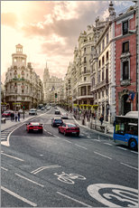 Wandaufkleber  Gran Via in Madrid - Stefan Becker