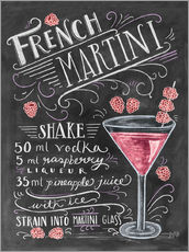 Gallery Print  French Martini Rezept (Englisch) - Lily & Val