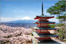 Wandsticker  Chureito Pagoda in Yamanashi - Jan Christopher Becke