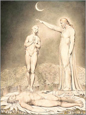 Wandsticker  Die Erschaffung Evas - William Blake
