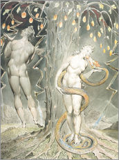 Wandsticker  Adam und Eva - William Blake