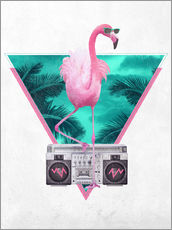 Gallery Print  Miami Flamingo - Robert Farkas