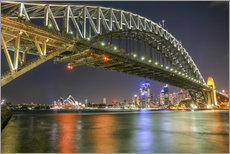 Wandsticker  Sydney Harbour Bridge I - Thomas Hagenau