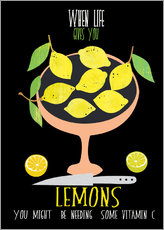 Wandaufkleber  when live gives you lemons - Elisandra Sevenstar