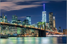 Wandsticker  New Yorker Skyline und Brooklyn Bridge - Sascha Kilmer