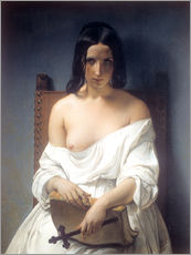 Gallery Print  Meditation - Francesco Hayez