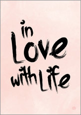 Wandsticker in love with life