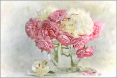 Wandsticker  roses and peonies - Lizzy Pe