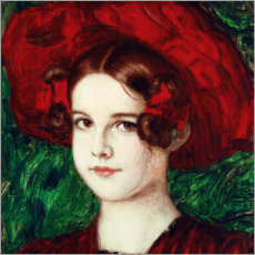 Gallery Print  Mary mit rotem Hut - Franz von Stuck