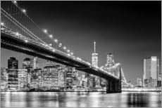 Gallery Print  Brooklyn Bridge und New York Skyline (monochrome) - Sascha Kilmer