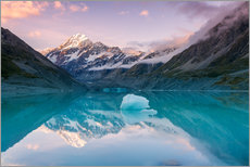 Gallery Print  Gletschersee am Mt. Cook, Neuseeland - Matteo Colombo