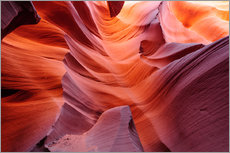 Gallery Print  Leuchtene Wände im Lower Antelope Slot Canyon bei Page, Arizona, USA - Peter Wey