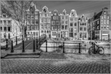 Wandsticker  The quiet of Amsterdam - Scott McQuaide