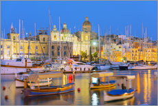 Gallery Print  Grand Harbour Marina, Vittoriosa (Birgu), The Three Cities, Malta, Mediterranean, Europe - Christian Kober