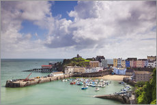 Gallery Print  Tenby Harbour, Pembrokeshire, West Wales, Wales, United Kingdom, Europe - Billy Stock