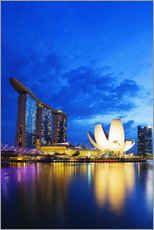 Gallery Print  Marina Bay Sands Hotel and Arts Science Museum, Singapore, Southeast Asia, Asia - Christian Kober
