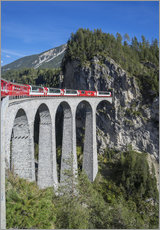 Gallery Print  Landwasser Viadukt, Filisur, Graubunden, Swiss Alps, Switzerland, Europe - Angelo Cavalli