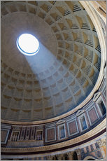 Wandsticker  A shaft of light through the dome of the Pantheon, UNESCO World Heritage Site, Rome, Lazio, Italy, E - Martin Child