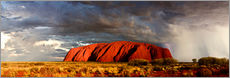 Wandaufkleber  Uluru (Ayers Rock), Uluru-Kata Tjuta National Park, UNESCO World Heritage Site, Northern Territory,  - Giles Bracher