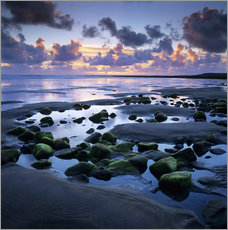 Gallery Print  Sunset over rock pool, Strandhill, County Sligo, Connacht, Republic of Ireland, Europe - Stuart Black