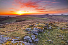 Wandsticker  Morgen im Dartmoor Nationalpark - Julian Elliott