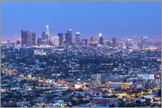Wandsticker  Cityscape of the Los Angeles skyline at dusk, Los Angeles, California, United States of America, Nor - Chris Hepburn