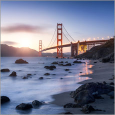 Wandsticker  San Francisco Golden Gate Bridge - Jan Christopher Becke