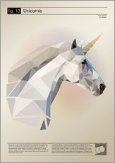 Gallery Print  fig13 Polygoneinhorn Poster - Labelizer