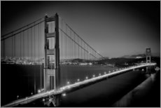 Gallery Print  Golden Gate Bridge am Abend - Melanie Viola