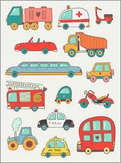 Gallery Print  Viele tolle Autos - Petit Griffin