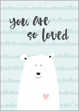Wandsticker  you are so loved - Mintgrün - m.belle