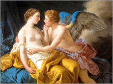 Gallery Print  Amor und Psyche - Louis Jean Francois Lagrenee