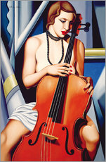 Gallery Print  Frau mit Cello - Catherine Abel