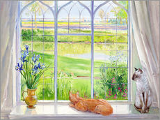 Wandsticker  Katzen am Fenster - Timothy Easton