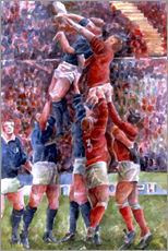 Gallery Print  Rugby International, Wales V Scotland - Gareth Lloyd Ball