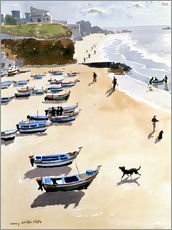 Gallery Print  Boote am Strand - Lucy Willis