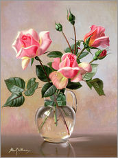 Gallery Print  Rosa Rosen in Glaskrug - Albert Williams