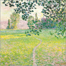 Wandsticker  Morgendliche Landschaft - Claude Monet
